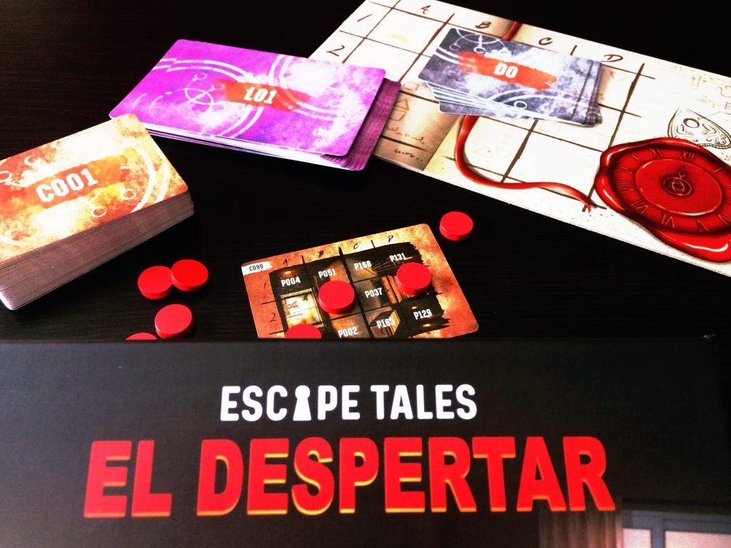 Componentes Juego de Mesa Escape Tales El Despertar Otra Partida 1.0
